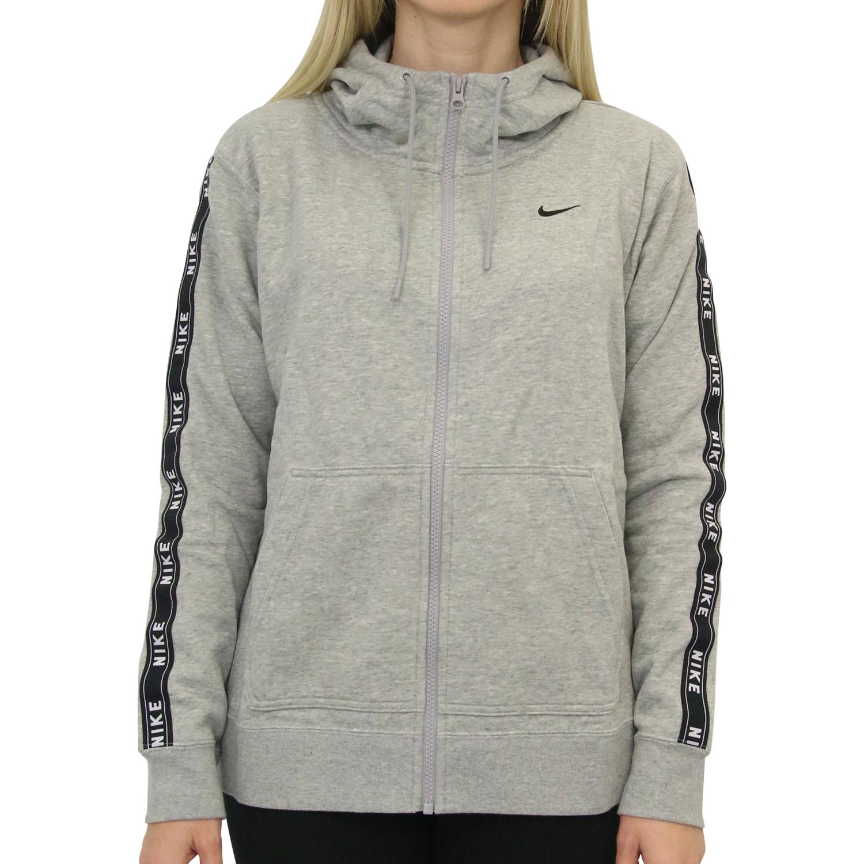Details zu Nike Sportswear Hoodie Kapuzenpullover Damen Grau AR3056 063