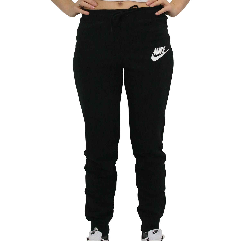Details zu Nike Sportswear Rally Hose Jogginghose Sporthose Lang Damen Schwarz 931875 010