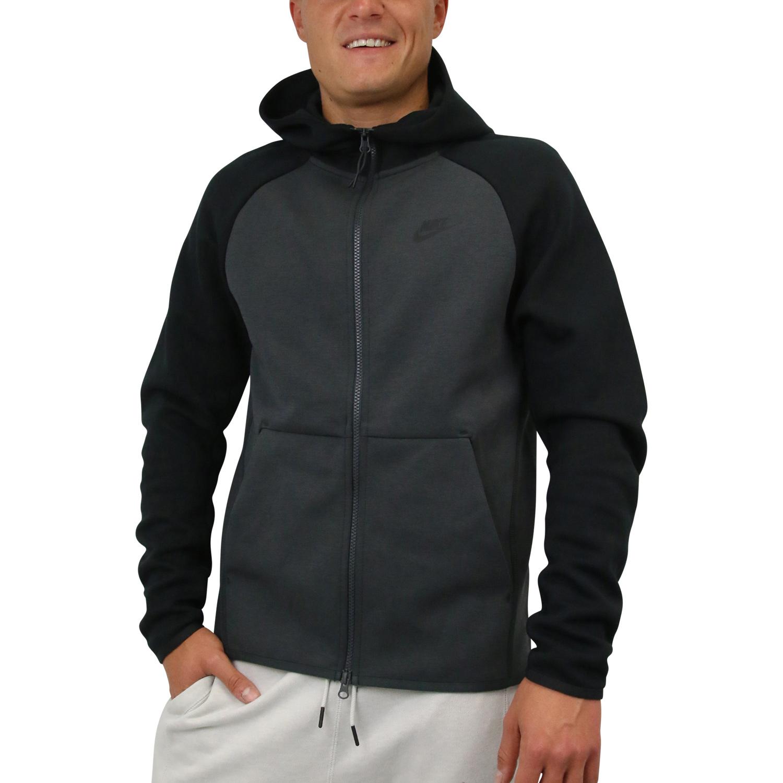 6cc2306c7d15ca Nike Sportswear Tech Fleece Hoodie Jacke Pullover Herren Anthrazit ...