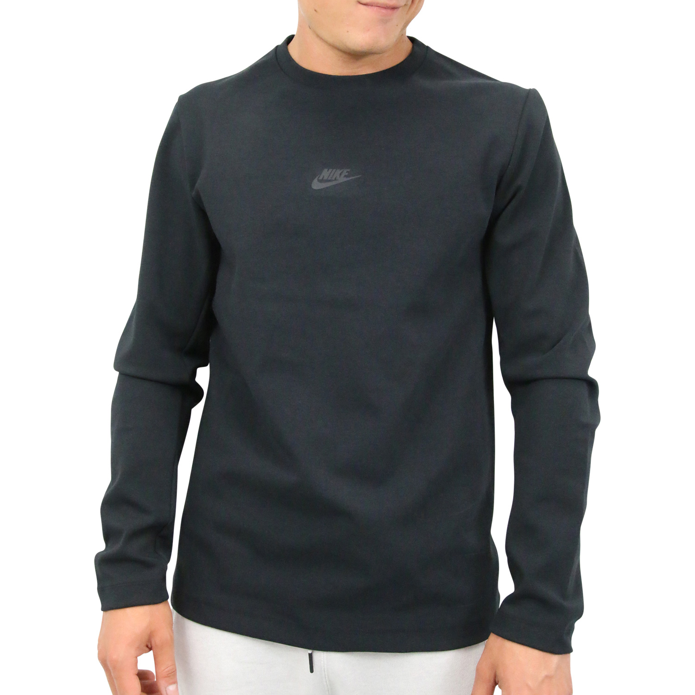 Details zu Nike Sportswear Tech Pack Crewneck Pullover Sweatshirt Herren Schwarz AA3782 010