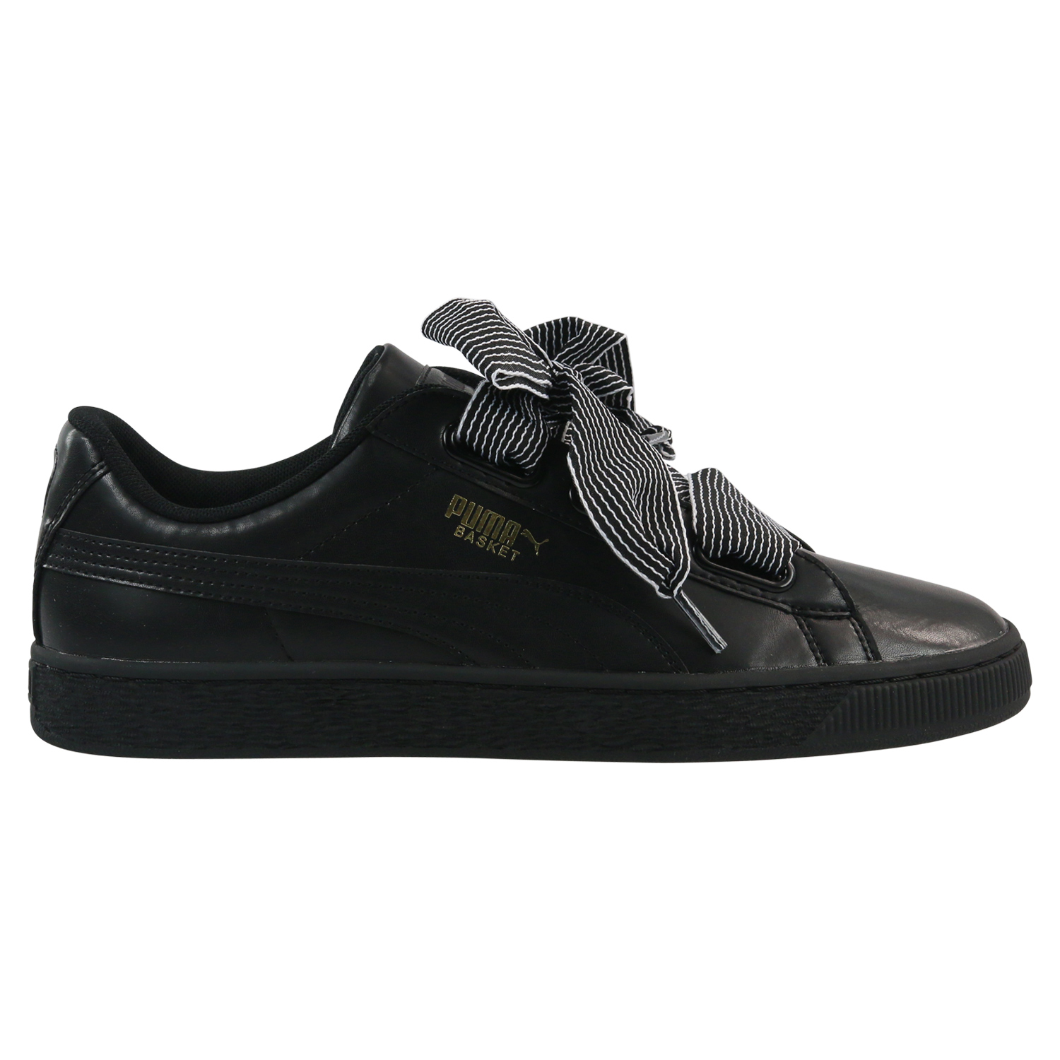 puma basket heart patent de glam jr sneaker schuhe schleife damen m dchen ebay. Black Bedroom Furniture Sets. Home Design Ideas