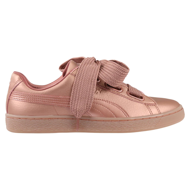 Puma-Basket-Heart-patente-de-glam-jr-cortos-zapatos-bucle-senora-chica