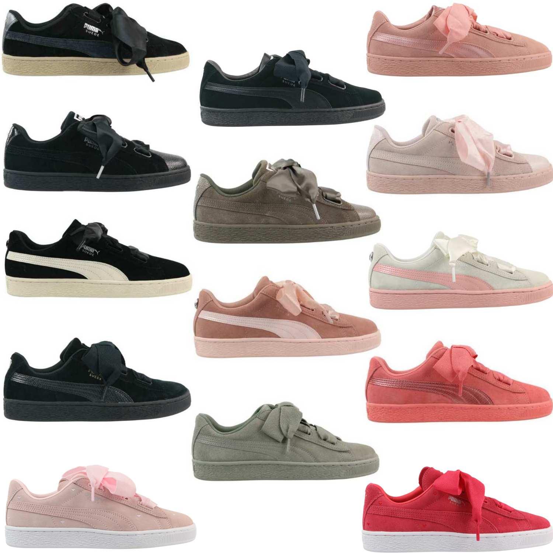 grau rosa PUMA Sneaker »Suede Heart Bubble« Damenschuhe