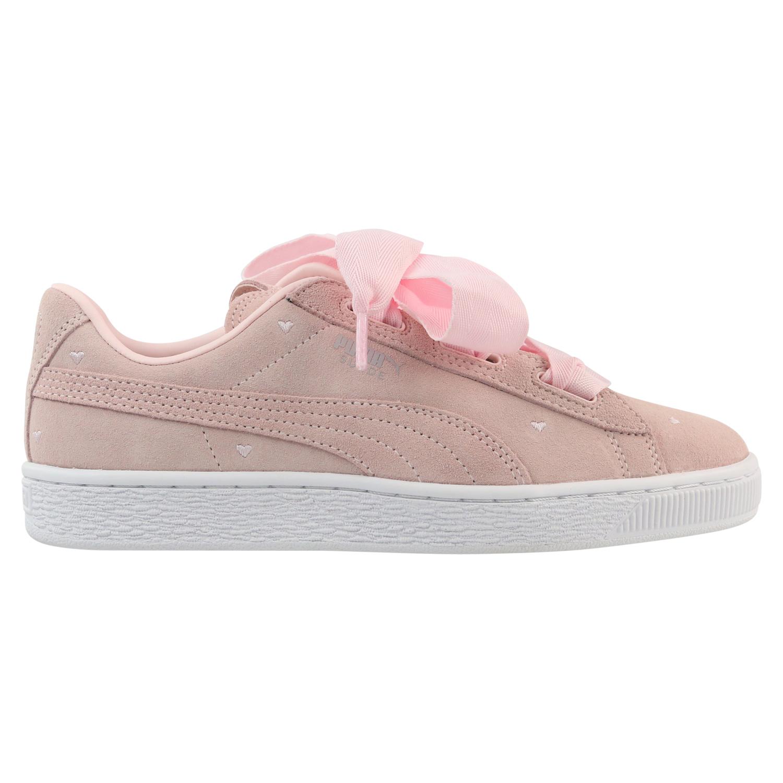 schleifen Schuhe Rosa pink süß suede puma heart