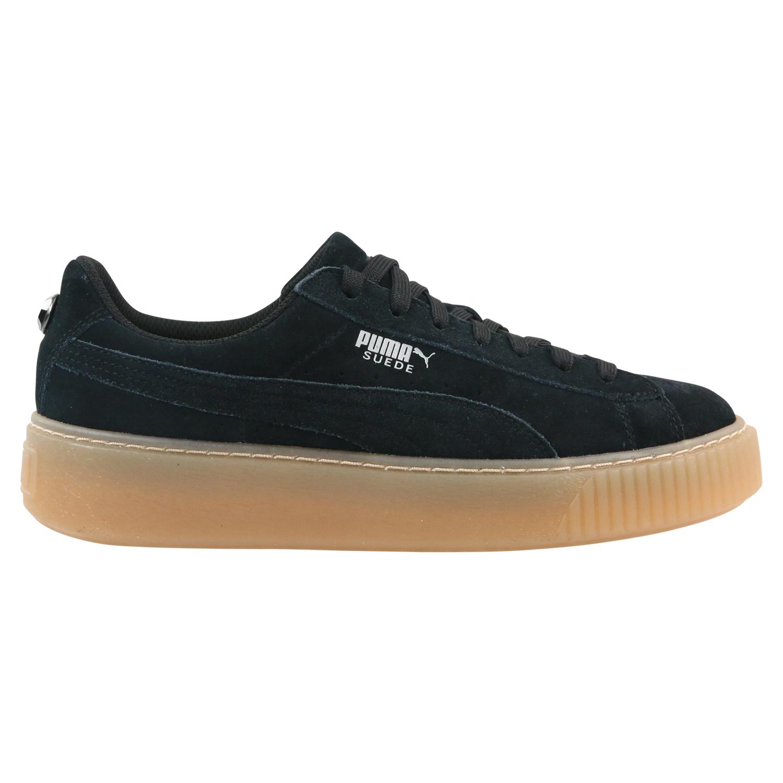 Details zu Puma Suede Platform Jewel Jr Schuhe Sneaker Kinder 365131 03 Schwarz