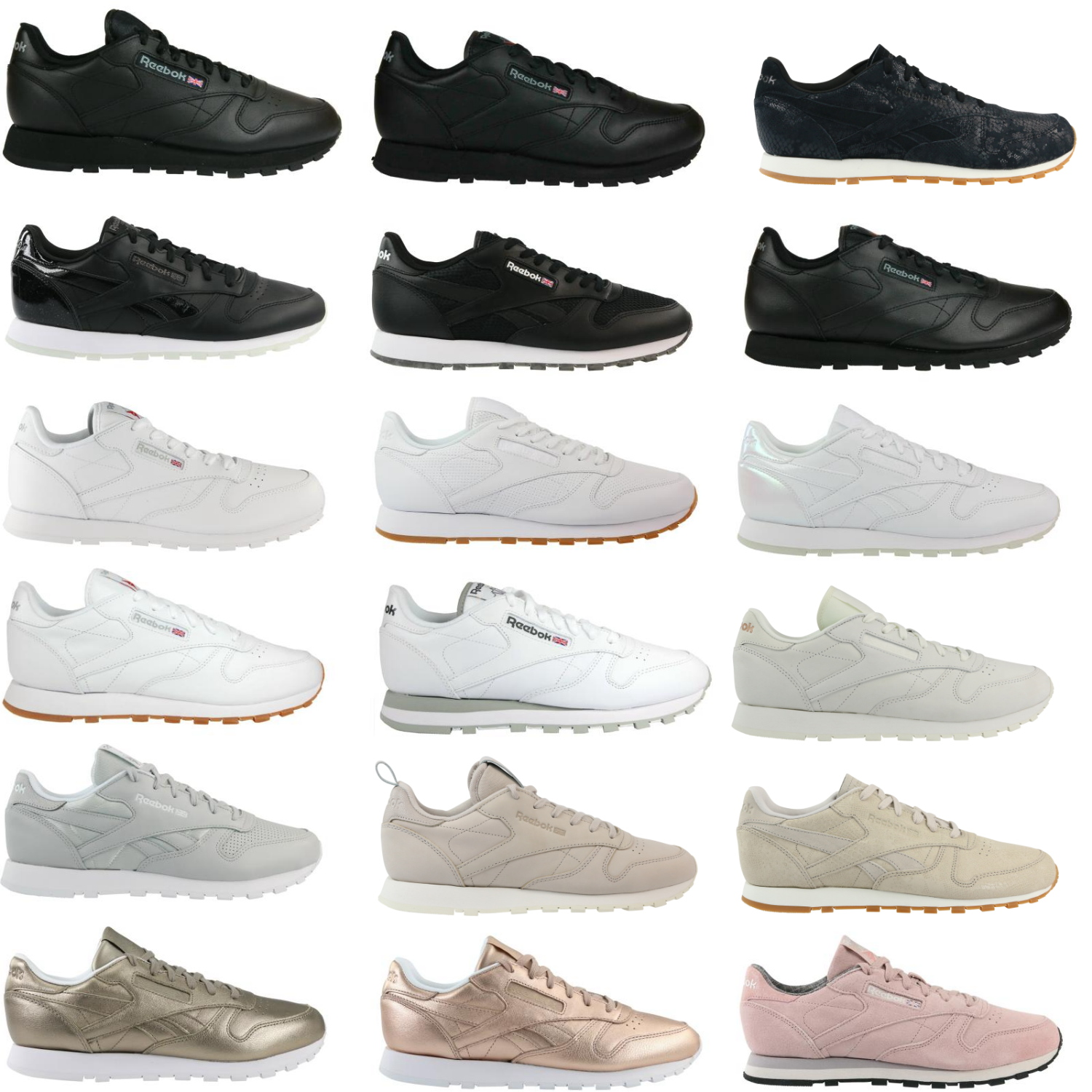 reebok classic leather nm fbt l pg clean exotics sneakers trainers shoes womens ebay. Black Bedroom Furniture Sets. Home Design Ideas