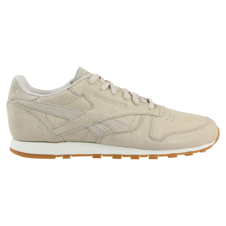 5baa379f564 Reebok Classic Leather Clean Exotics Schuhe Turnschuhe Sneaker Damen ...