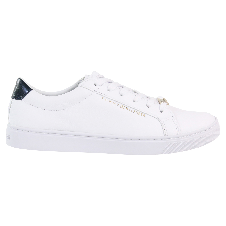 best loved 1068a 691a1 Details zu Tommy Hilfiger Metallic Sneaker Schuhe Damen FW0FW03682020 Weiß