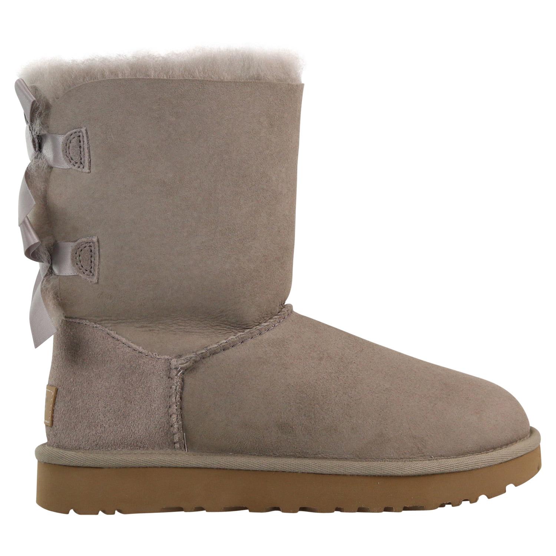Details zu UGG Bailey Bow II Stiefel Winterschuh Boots Damen Hellgrau 1016225 OYS