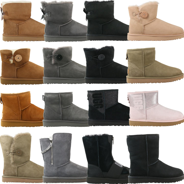 Details zu Ugg Boots Classic Mini Bailey Winterschuhe Stiefeletten Stiefel Gefüttert Damen
