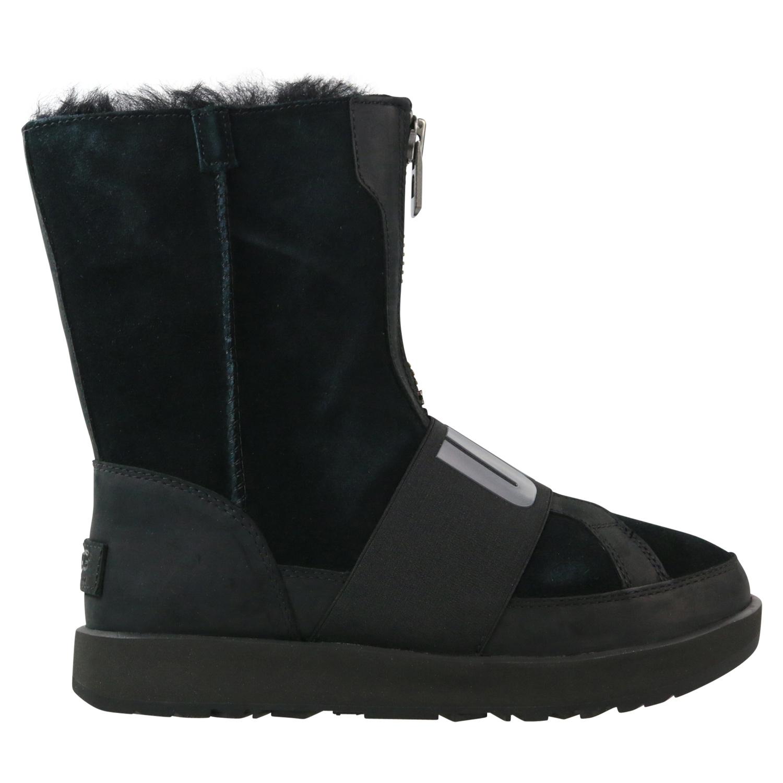 Details zu Ugg Conness Waterproof Classic Boot Schuhe Stiefel Damen Schwarz 1098373 BLK